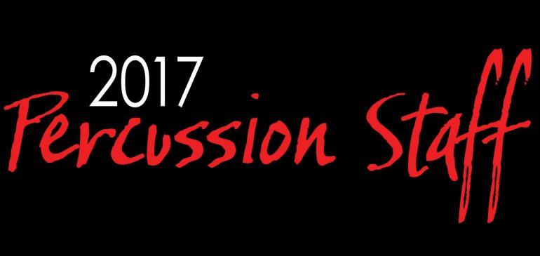 2017 Percussion Staff