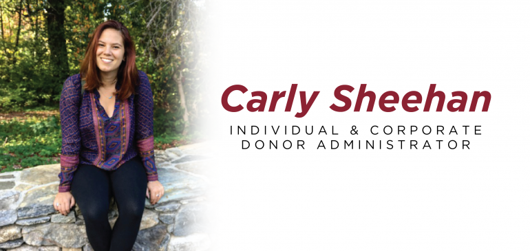 Meet Our New Individual And Corporate Donor Administrator